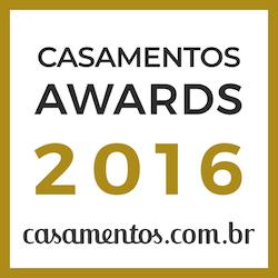 Casa das Alianças, ganhadora do prêmio Casamentos Awards 2016 de casamentos.com.br