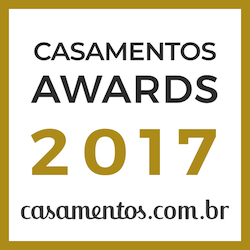 Personal Casório Assessoria de Eventos, ganhador Casamentos Awards 2017 de casamentos.com.br